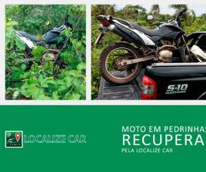 Moto recuperada em Pedrinhas pela Localize Car