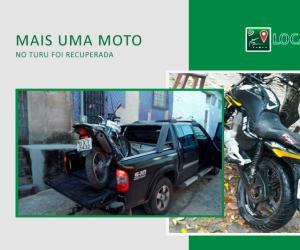 Mais uma moto recuperada no Turu