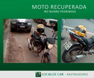 Moto recuperada no Bairro Pedrinhas (BR 135)